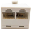 RJ45 8P8C 1 M/ 2F Modular T Adapter -- 68TA-42 -- View Larger Image