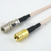10-32 Male to SMB Plug Cable RG316 Coax in 48 Inch -- FMC1016316-48 -- View Larger Image