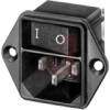 Module, Pwr Entry;AC Inlet with Line Switch;Screw-On Mt;Quick Conn.;10A;SPST -- 70080692