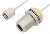 SMA Male to N Female Bulkhead Cable 24 Inch Length Using PE-SR047AL Coax -- PE34151LF-24 -Image