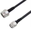 Low Loss N Male to TNC Male Cable Assembly using LMR-240-DB Coax, 1 FT with Times Microwave Components -- LCCA30279-FT1 -Image
