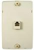 4C Ivory Wall Phone Jack -- 83-091 - Image