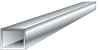 2 in. x 2 in. x 0.125 in. Square Hollow Tubing -- 8256810 -- View Larger Image