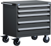 Heavy-Duty Mobile Cabinet, with Partitions -- R5BEC-3005 -Image