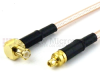 MMCX Plug to RA MCX Plug Cable RG316 Coax in 12 Inch -- FMC0917316-12 -Image