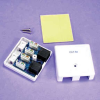 CAT5E 2 Port Surface Mount Box White, PCB Type -- 1019-SF-10