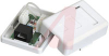 Box; White; Surface Mount; Single; For CAT 5E cable -- 70121762 - Image