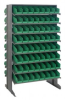 Bins & Systems - 4'' Shelf Bins (QSB Series) - Sloped Shelving Units - Double Sided Pick Racks - QPRD-101 - Image
