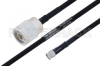 MIL-DTL-17 N Male to SMA Male Cable 12 Inch Length Using M17/84-RG223 Coax -- PE3M0042-12 -Image