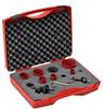 Hole Saw Kit: bi-metal HSS, 7/8 to 2-11/16 inch diameter, 8 pc -- 106302