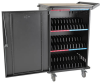 36-Device AC Charging Station Cart for Chromebooks and Laptops, Black -- CSC36AC