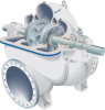 Double Suction Axially Split Single Stage Centrifugal Pumps -- ZPP - Image