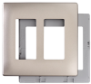 Decorative Screwless Wall Plate with Plastic Subplate -- SWP262NI