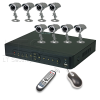 8 Channel,Network Pentaplex DVR Kit, 8 CCD Night Vision Cameras, 500GB SATA HDD, Plug & Play