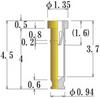 Small Size Socket Pin -- NS-F135L45-GG -Image