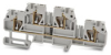 Double-level Terminal Block: diode connected levels, gray, 10/pk -- DN-QD12DR-A