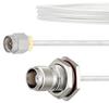 SMA Male to TNC Female Bulkhead Cable FM-SR086TB Coax in 24 Inch with LF Solder -- FMCA2137-24 -Image