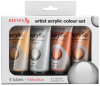REEVES ACRYLIC PAINT 75ML 4 TUBE SET METALLIC -- H67395
