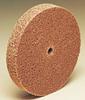 3M Scotch-Brite CP-UW Unitized Aluminum Oxide Hard Deburring Wheel - Coarse Grade - Arbor Attachment - 2 in Diameter - 1/4 in Center Hole - Thickness 1/4 in - 18437 -- 048011-18437 - Image