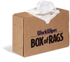 WorkWipes New White 100% Cotton Rags in Box New Material Rags, T-Shirt, Box - Compressed Shop Towels & Rags WIP595