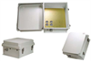 14x12x7 Inch Weatherproof NEMA 3R Enclosure with Drilled Mounting Plate -- NB141207-01