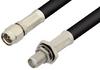 SMA Male to SMA Female Bulkhead Cable 60 Inch Length Using 93 Ohm RG62 Coax -- PE3806-60 -Image