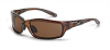 Polarized Safety Glasses: ANSI Z87+, brown lens, brown frame -- SG-21126