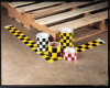 Checkerboard Tape,Yellow/Blk,Vinyl 6 In -- 8NEP4 - Image