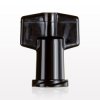 Non-Vented Female Luer Cap, Black -- 11009 -Image