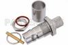 QN Female Bulkhead Connector Crimp/Solder Attachment For RG214, RG225, .500 inch Diameter -- PE44608 -Image