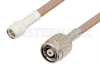 SMA Male to Reverse Polarity TNC Male Cable 36 Inch Length Using RG400 Coax, RoHS -- PE35246LF-36 -Image