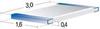 Platinum Temperature Sensor SMD Element -- 4P SMD 1206