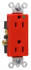 Duplex/Single Receptacle -- 26262-HGRED -- View Larger Image