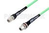 N Female Bulkhead to TNC Male Low Loss Test Cable 200 cm Length Using PE-P300LL Coax, RoHS -- PE3C1084-200CM -Image