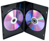 Black 7mm Slimline 2 Disc DVD Cases -- 3876