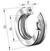 51300 Series Medium Duty Ball Thrust Ball Bearings -- 51305