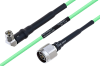 Temperature Conditioned SMA Male Right Angle to N Male Low Loss Cable 48 Inch Length Using PE-P160LL Coax -- PE3M0201-48 -- View Larger Image