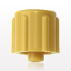Non-Vented Male Luer Cap, Yellow -- 65304 -Image