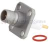 BMA Plug Slide-On Connector Stub Terminal Solder Attachment 4 Hole Flange , .340 inch Hole Spacing -- FMCN1224 -Image