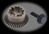 Traxxas Diff, Ring Gear & Pinion Gear: 1/16 SLH, ERV -- 0-TRA7079