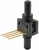 26PC Series, compensated/unamplified, differential, ±100 psi 1x4 SIP 15,2 mm [0.60 in] long, M5 thread port -- 26PCFNH6D -Image