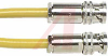 Cable; 36 in.; 20 AWG; Triaxial Conductors; Non Booted; Yellow; UL Listed -- 70198275