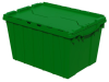Akro-Mils Keepbox 12 gal 65 lb Green Industrial Grade Polymer Attached Lid Container - 21 1/2 in Length - 15 in Width - 12 1/2 in Height - 39120 GREEN -- 39120 GREEN