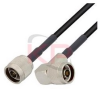 N-Male to Right Angle N-Male LMR 195 Cable -- KPPA-N-N-24-R -- View Larger Image