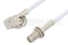 SMA Male Right Angle to SMA Female Bulkhead Cable 48 Inch Length Using RG188-DS Coax -- PE34179-48 -Image