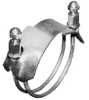 Tiger Clamps™ Spiral Double Bolt Clamps for Clockwise Helix Hoses -Image