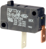 MICRO SWITCH V7 Series Miniature Basic Switch, Single Pole Normally Open Circuitry, 25 A at 250 Vac, Pin Plunger Actuator, 2,21 N [7.9 oz] Maximum Operating Force, Silver Contacts, Quick Connect Termi -- V7-1Z29D94 -Image