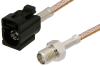 SMA Female to Black FAKRA Jack Cable 36 Inch Length Using RG316 Coax -- PE39351A-36 -- View Larger Image