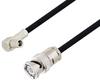SMB Plug Right Angle to BNC Male Cable 50 cm Length Using RG223 Coax -- PE3W06905-50CM -Image