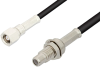 SMC Plug to SMC Jack Bulkhead Cable 24 Inch Length Using RG174 Coax -- PE33580-24 -Image